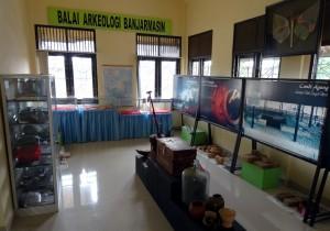 L'exposition dans le hall du Balai Arkeologi