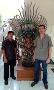 Adhi Agus (Arkenas), F.-X. Ricaut (MAFBO) et Garuda